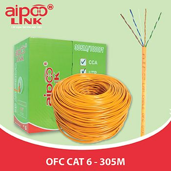 CÁP MẠNG Aipoolink OFC CAT 6 - 305M